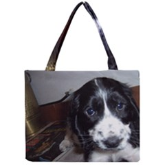Black Roan English Cocker Spaniel Puppy Mini Tote Bag