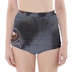 Cocker Spaniel Black Eyes High-Waisted Bikini Bottoms