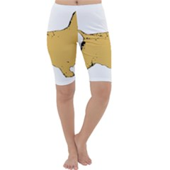 English Cocker Spaniel Silo Color Cropped Leggings
