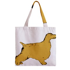 English Cocker Spaniel Silo Color Zipper Grocery Tote Bag