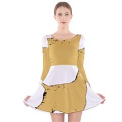 English Cocker Spaniel Silo Color Long Sleeve Velvet Skater Dress