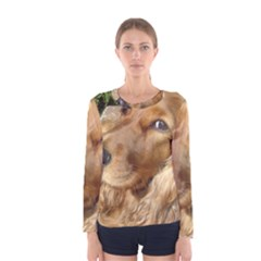 Red Cocker Spaniel Red Women s Long Sleeve Tee