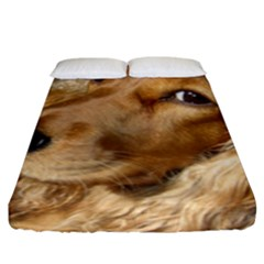 Red Cocker Spaniel Red Fitted Sheet (King Size)