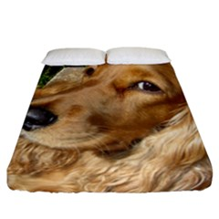 Red Cocker Spaniel Red Fitted Sheet (California King Size)
