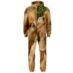 Red Cocker Spaniel Red Hooded Jumpsuit (Men)