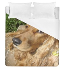 Red Cocker Spaniel Red Duvet Cover (Queen Size)