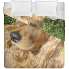 Red Cocker Spaniel Red Duvet Cover Double Side (King Size)