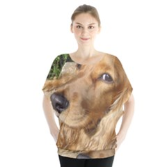 Red Cocker Spaniel Red Blouse
