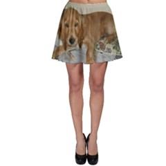 Red Cocker Spaniel Puppy Skater Skirt