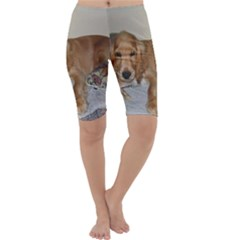 Red Cocker Spaniel Puppy Cropped Leggings