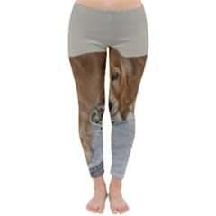 Red Cocker Spaniel Puppy Classic Winter Leggings