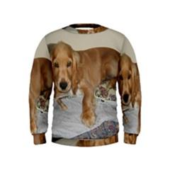 Red Cocker Spaniel Puppy Kids  Sweatshirt