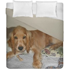 Red Cocker Spaniel Puppy Duvet Cover Double Side (California King Size)
