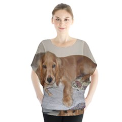 Red Cocker Spaniel Puppy Blouse