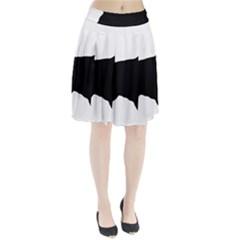 English Cocker Spaniel Silo Black Pleated Skirt