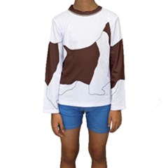 English Springer Spaniel Silo Color Kids  Long Sleeve Swimwear