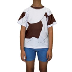 English Springer Spaniel Silo Color Kids  Short Sleeve Swimwear