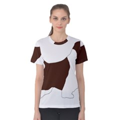 English Springer Spaniel Silo Color Women s Cotton Tee