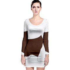 English Springer Spaniel Silo Color Long Sleeve Bodycon Dress