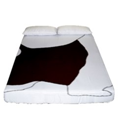 English Springer Spaniel Silo Color Fitted Sheet (Queen Size)