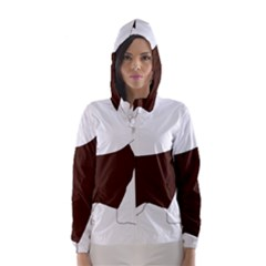 English Springer Spaniel Silo Color Hooded Wind Breaker (Women)