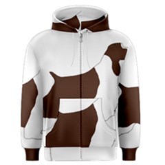 English Springer Spaniel Silo Color Men s Zipper Hoodie