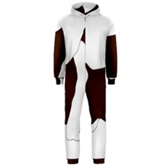 English Springer Spaniel Silo Color Hooded Jumpsuit (Men)