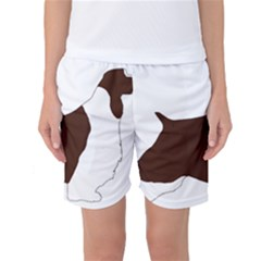 English Springer Spaniel Silo Color Women s Basketball Shorts