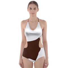 English Springer Spaniel Silo Color Cut-Out One Piece Swimsuit