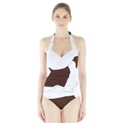 English Springer Spaniel Silo Color Halter Swimsuit