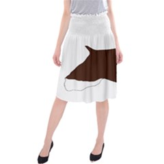 English Springer Spaniel Silo Color Midi Beach Skirt