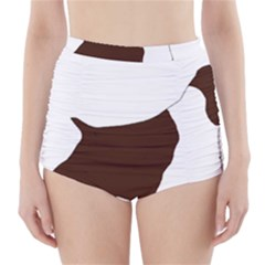 English Springer Spaniel Silo Color High-Waisted Bikini Bottoms