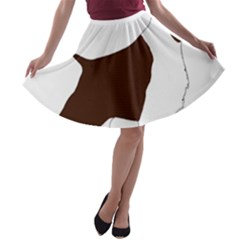 English Springer Spaniel Silo Color A-line Skater Skirt