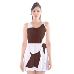 English Springer Spaniel Silo Color Scoop Neck Skater Dress
