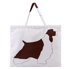 English Springer Spaniel Silo Color Zipper Large Tote Bag