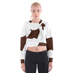 English Springer Spaniel Silo Color Women s Cropped Sweatshirt