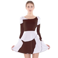 English Springer Spaniel Silo Color Long Sleeve Velvet Skater Dress