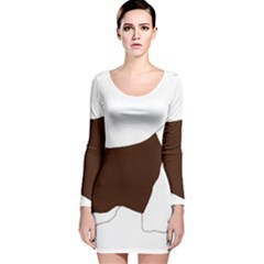 English Springer Spaniel Silo Color Long Sleeve Velvet Bodycon Dress