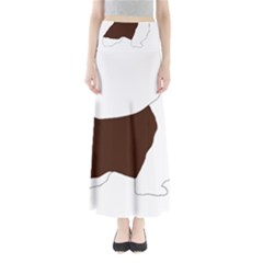 English Springer Spaniel Silo Color Maxi Skirts