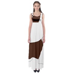 English Springer Spaniel Silo Color Empire Waist Maxi Dress