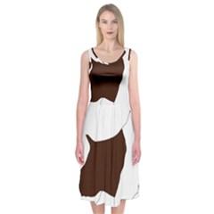 English Springer Spaniel Silo Color Midi Sleeveless Dress