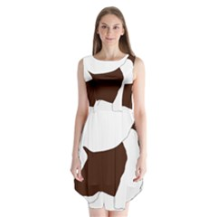 English Springer Spaniel Silo Color Sleeveless Chiffon Dress