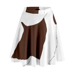 English Springer Spaniel Silo Color High Waist Skirt