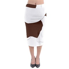 English Springer Spaniel Silo Color Midi Pencil Skirt