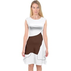 English Springer Spaniel Silo Color Capsleeve Midi Dress