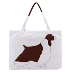 English Springer Spaniel Silo Color Medium Zipper Tote Bag