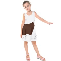 English Springer Spaniel Silo Color Kids  Sleeveless Dress