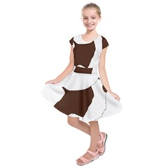 English Springer Spaniel Silo Color Kids  Short Sleeve Dress