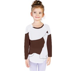 English Springer Spaniel Silo Color Kids  Long Sleeve Tee