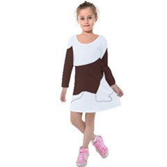 English Springer Spaniel Silo Color Kids  Long Sleeve Velvet Dress
